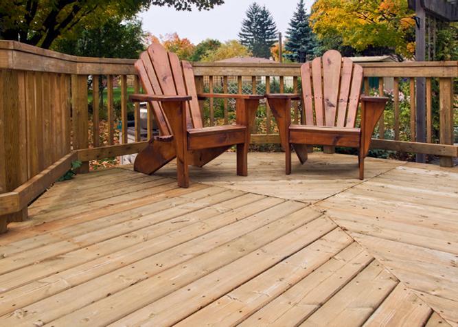 Terrassenboden aus Douglasie Massivholz